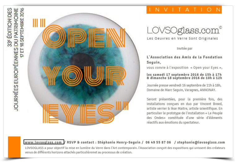 "Septembre 2016 - exposition ""OPEN YOUR EYES"""